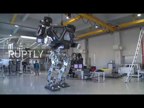 South Korea: World's first giant manned robot takes its first steps
