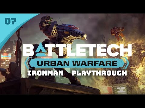 Sneaky ECM Raven Fights - Battletech Urban Warfare DLC Career Mode Playthrough #7